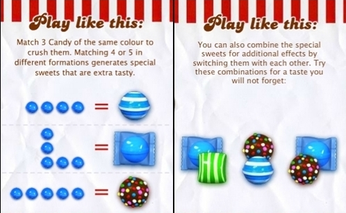 Candy crush combinations